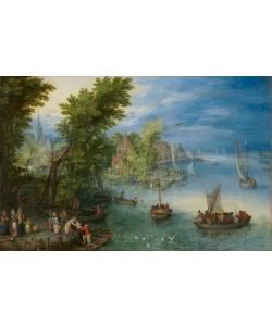 Jan Brueghel der Ältere, Flusslandschaft