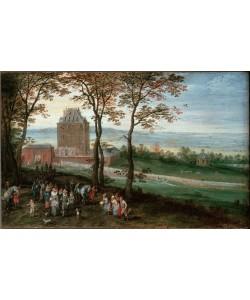 Jan Brueghel der Ältere, Erzherzog Albrecht und Isabella vor Schloß Mariemont