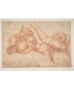 Michelangelo Buonarroti, Study of Figures from Michelangelo's Last Judgment, Sistine Chapel