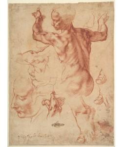 Michelangelo Buonarroti, Studies for the Libyan Sibyl