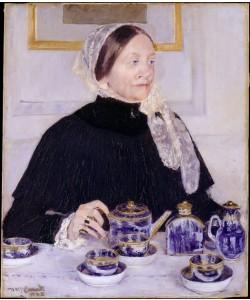 Mary Cassatt, Dame am Teetisch