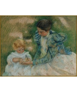 Mary Cassatt, Mother Playing with Child