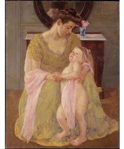 Mary Cassatt, Mutter und Kind mit einem rosa Schal
