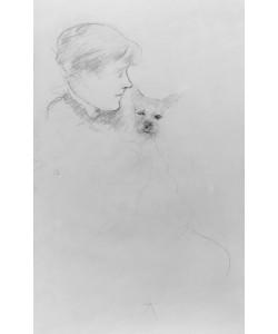 Mary Cassatt, Woman with Dog