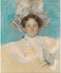 Mary Cassatt, Adaline Havemeyer in a White Hat