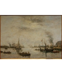 Eugene Boudin, Le Havre, Hafenansicht