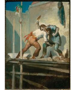 Honore Daumier, Raufende Maurer