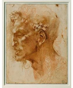 Michelangelo Buonarroti, Head of a faun