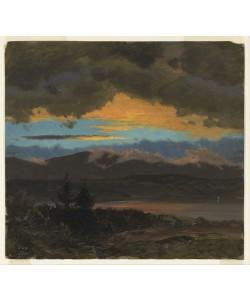 Frederic Edwin Church, Sonnenuntergang über dem Hudson Valley