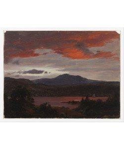 Frederic Edwin Church, Turner Pond mit Pomola Peak und Baxter Peak, Maine