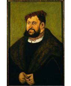 Lucas Cranach der Ältere, Bildnis des Kurfürsten Johann des Beständigen mit Nelkenkra