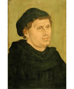 Lucas Cranach der Ältere, Martin Luther als Augustinermönch mit Doktorhut