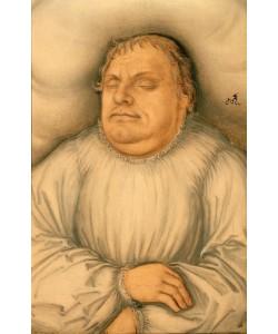 Lucas Cranach der Ältere, Bildnis Martin Luthers auf dem Totenbett