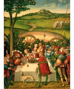 Lucas Cranach der Ältere, Judith an der Tafel des Holofernes