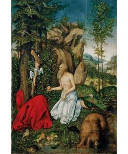Lucas Cranach der Ältere, Der heilige Hieronymus in der Wüste