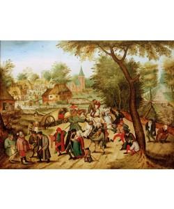 Pieter Brueghel der Jüngere, Hochzeitstanz im Freien