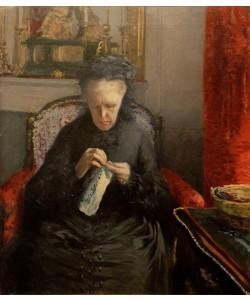 Gustave Caillebotte, Portrait de Madame Martial Caillebotte