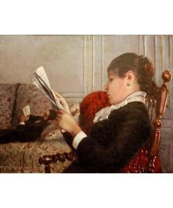 Gustave Caillebotte, Intérieur dit aussi Intérieur, femme lisant