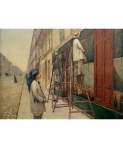 Gustave Caillebotte, Les peintres en bâtiment