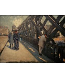 Gustave Caillebotte, Le pont de l'Europe, esquisse