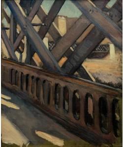 Gustave Caillebotte, Le pont de l'Europe, étude partielle