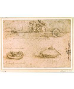 Leonardo da Vinci, Sichelwagen und Panzerwagen