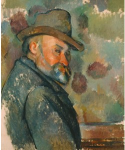 Paul Cézanne, Selbstbildnis mit Filzhut