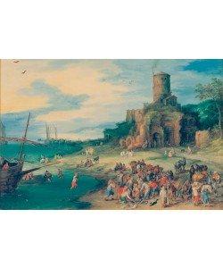 Jan Brueghel der Ältere, Seelandschaft mit Scipionengrab