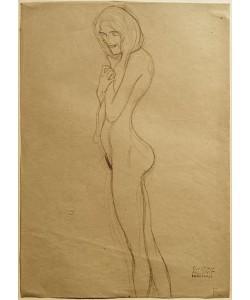 Gustav Klimt, Studie für die linke Gorgone im 'Beethovenfries'
