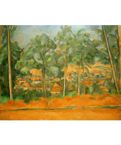 Paul Cézanne, Village derrière les arbres