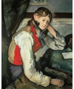 Paul Cézanne, Junger Mann mit roter Weste