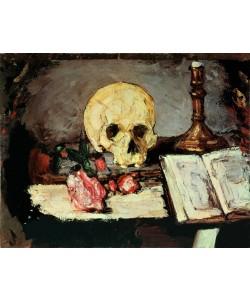 Paul Cézanne, Totenschädel u. Kerzenlicht