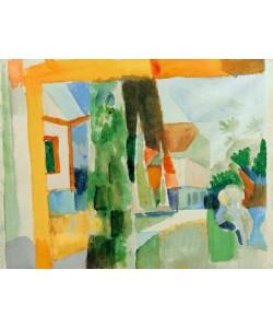 August Macke, Unser Garten am See 4