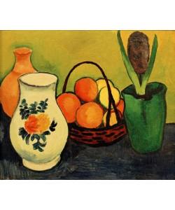 August Macke, Weißer Krug mit blauen Früchten