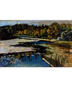 Wassily Kandinsky, Der Fluß im Herbst