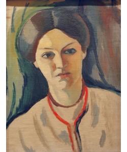 August Macke, Porträtkopf der Frau des Künstlers