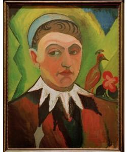 August Macke, Clown, karikiertes Selbstbildnis