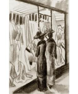 August Macke, Modegeschäft im Laubengang