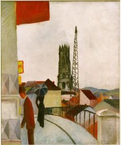 August Macke, Kathedrale zu Freiburg in der Schweiz