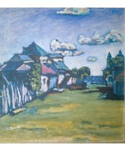 Wassily Kandinsky, Landschaft mit Häusern