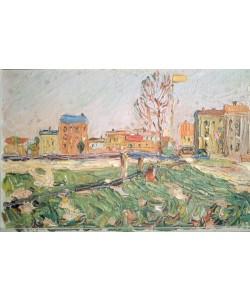 Wassily Kandinsky, Stadtlandschaft (Sonniger Tag, Schwabing)