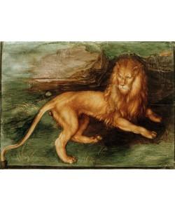 Albrecht Dürer, Löwe vor einer Höhle