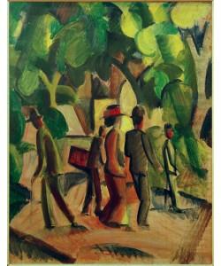 August Macke, Promenade in Braun und Grün