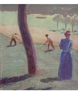 August Macke, Arbeiter auf dem Feld bei Kandern