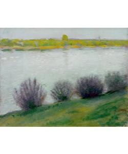 August Macke, Am Rhein bei Hersel