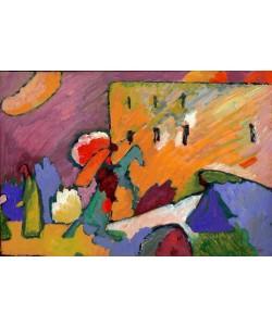 Wassily Kandinsky, Studie zu Improvisation 3 (Reiter über der Brücke)