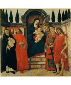 Sandro Botticelli, Maria mit Kind und Heiligen