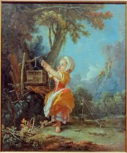 Francois Boucher, Die kleine Vogelfängerin
