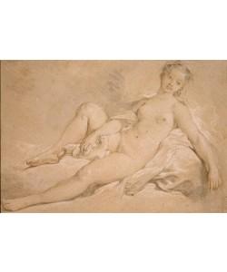 Francois Boucher, Mädchenakt mit Taube
