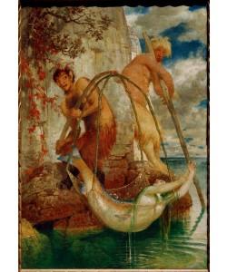Arnold Böcklin, Zwei fischende Pane